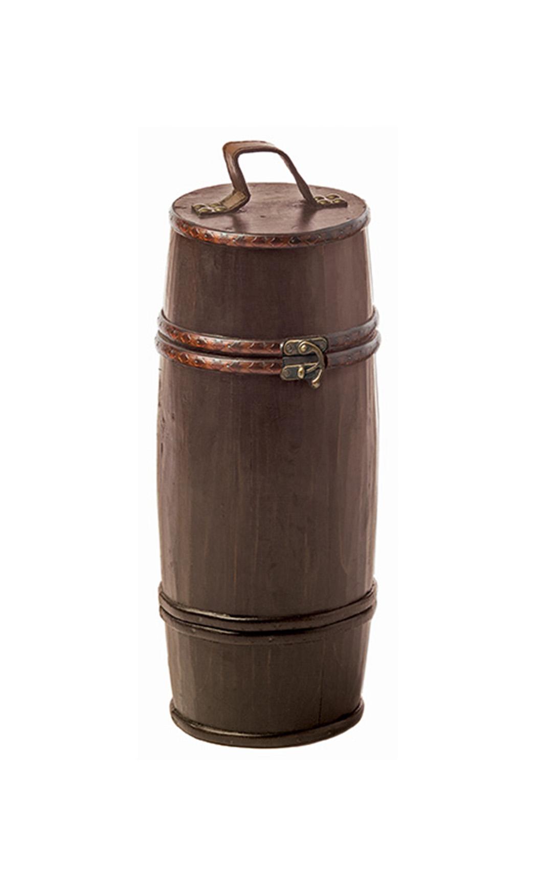 Barrel Shaped Wood Box