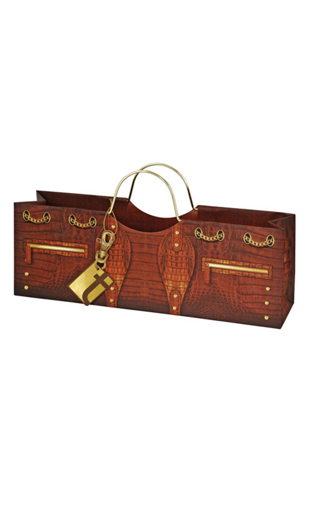 Croc Wine Purse Gift Bag