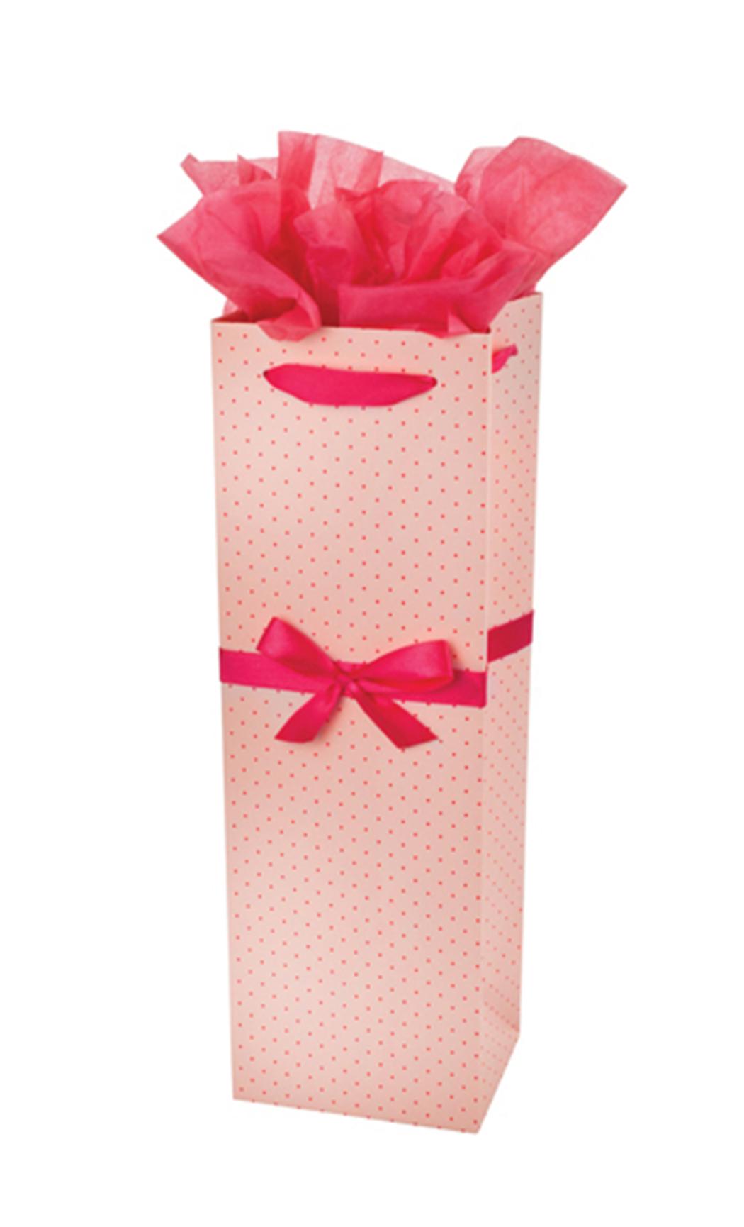 Elegant Dotted Pink Gift Bag