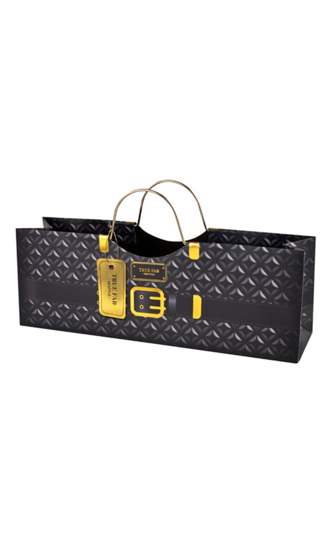 Black Plush Purse Gift Bag