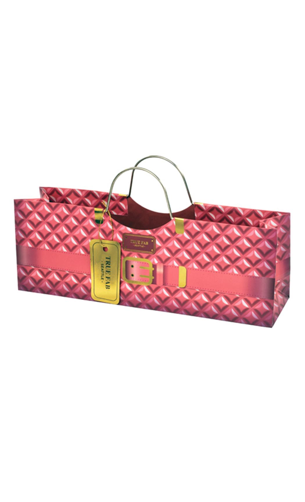 Pink Plush Wine Purse Gift Bag