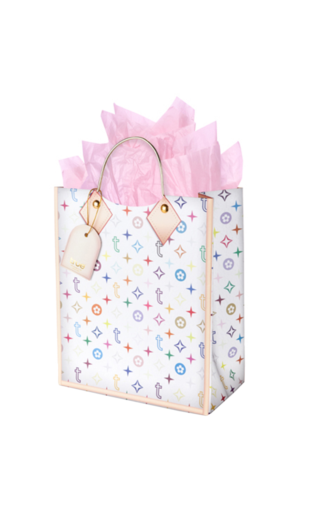 Colourful TRUE Logo Medium Gift Bag