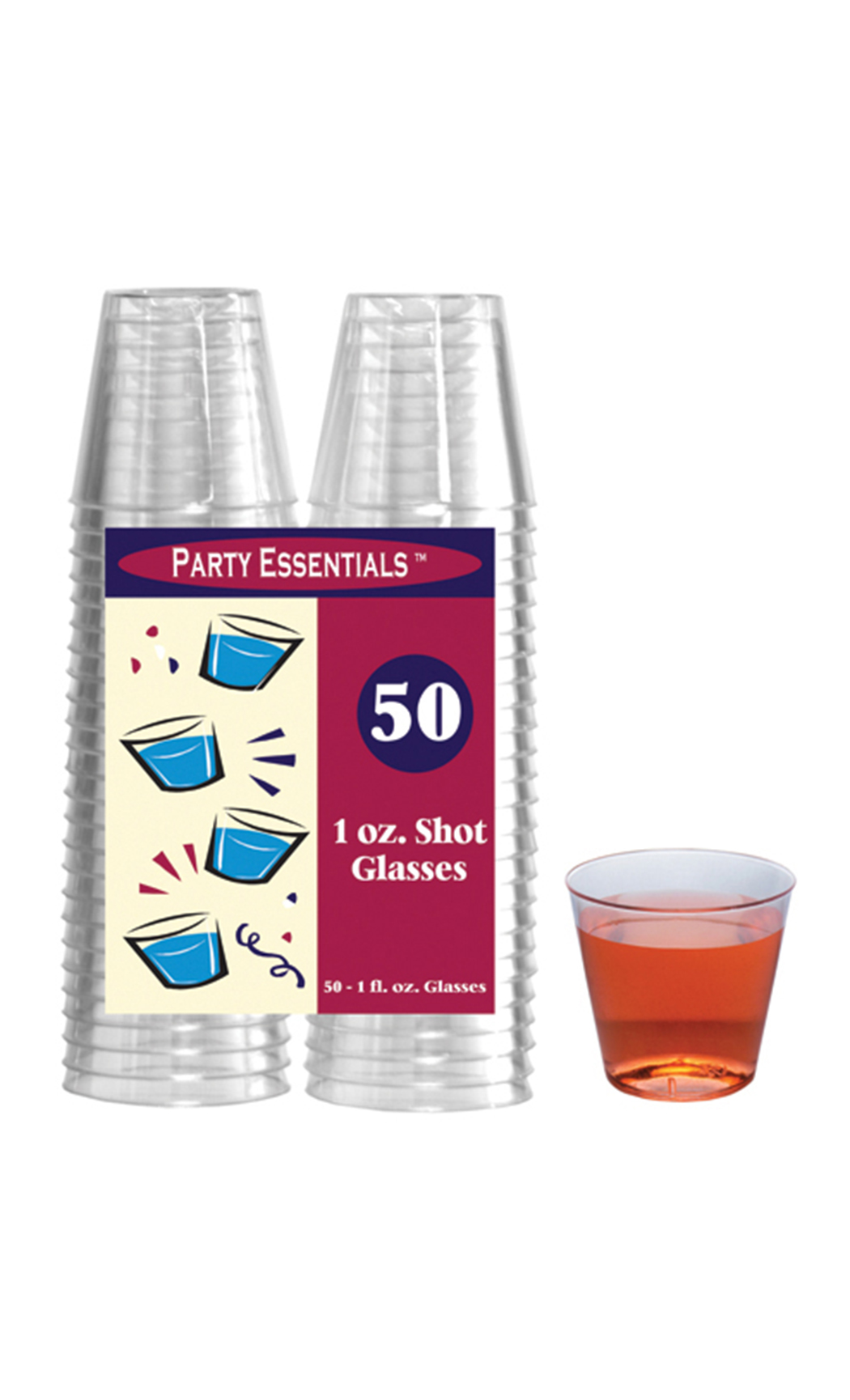 30Ml Hard Plastic Shot Glasses (50 Pc)