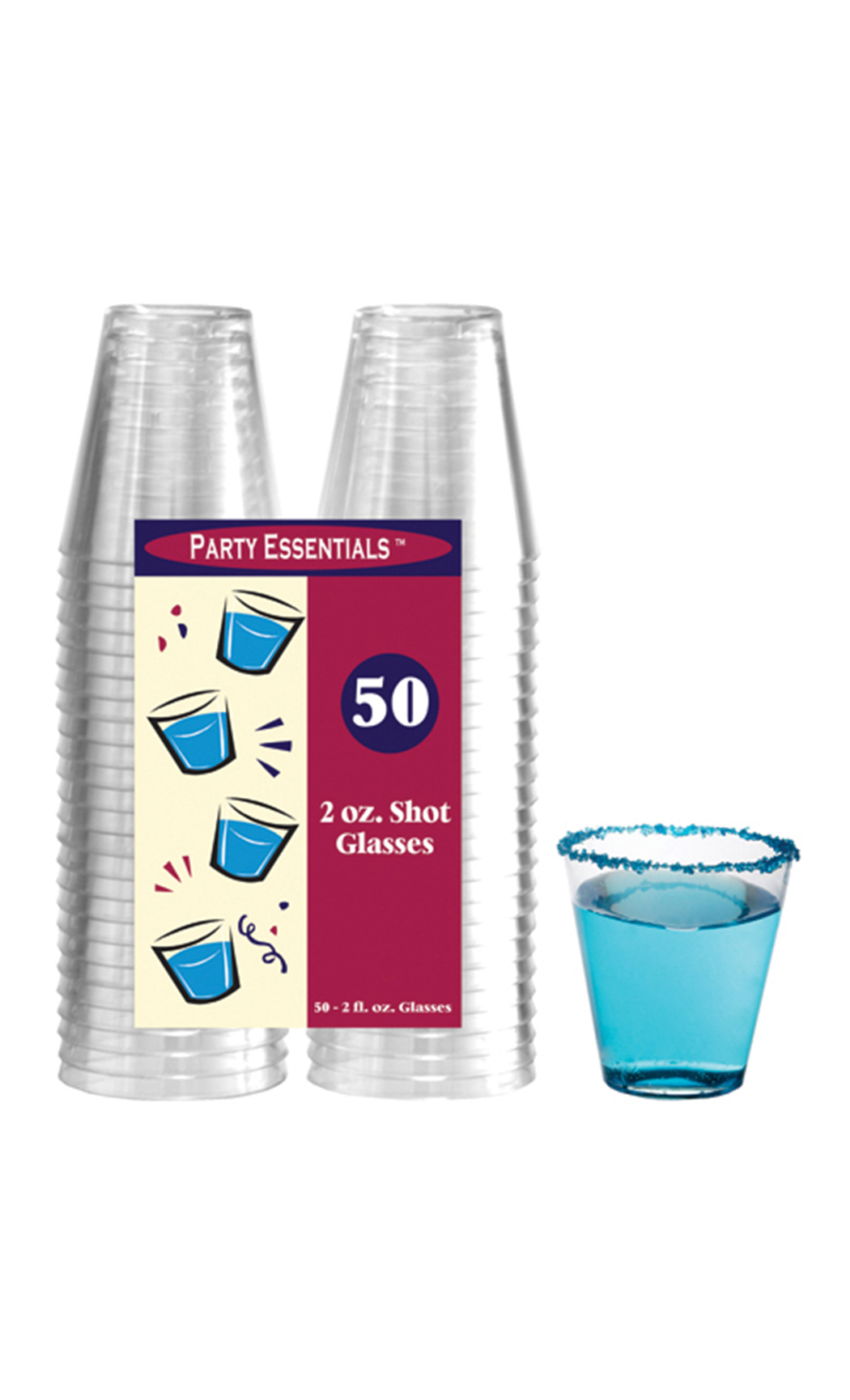 60 ml Hard Plastic Shot Glasses (50 Pc)