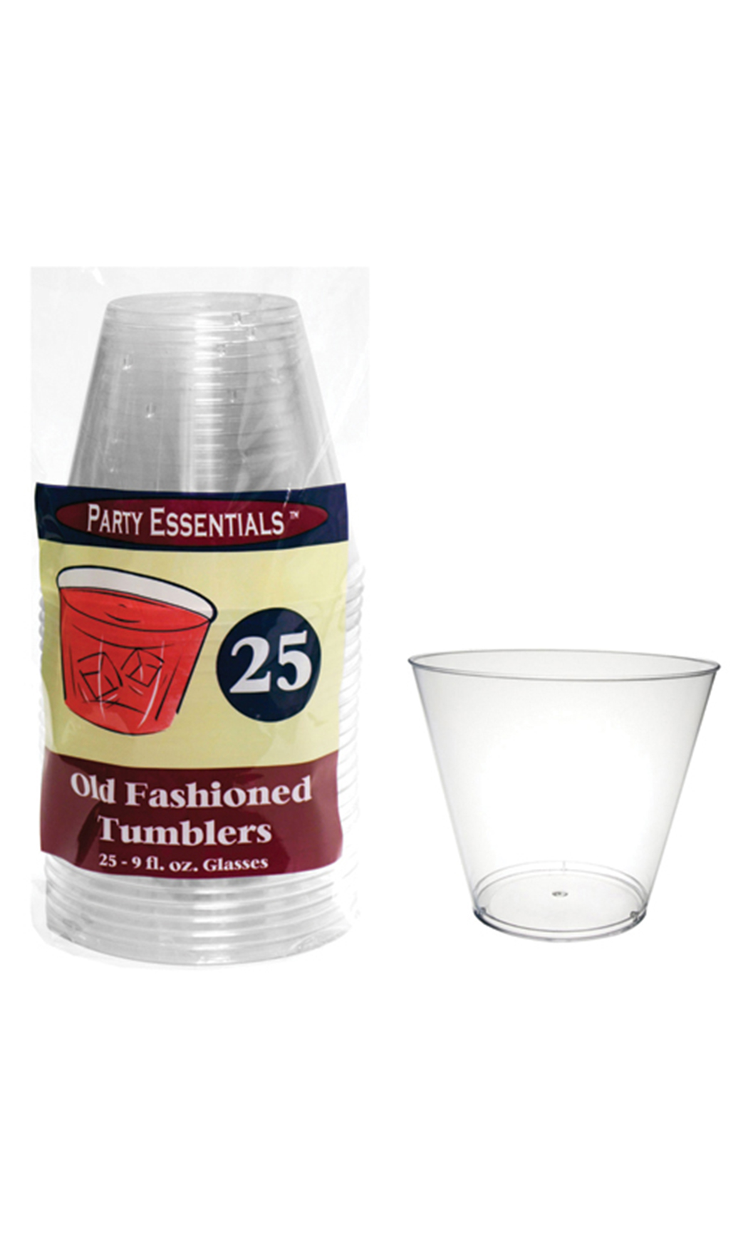270 ml Hard Plastic Cocktail Tumblers (25 Pc)