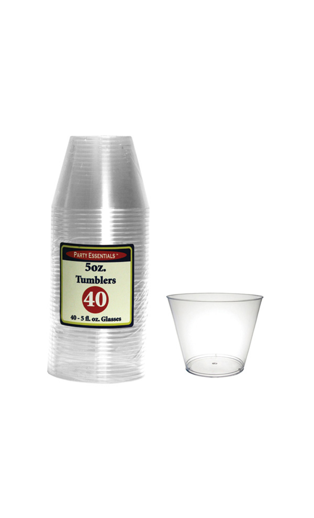 150 ml Hard Plastic Small Tumblers (40 Pc)