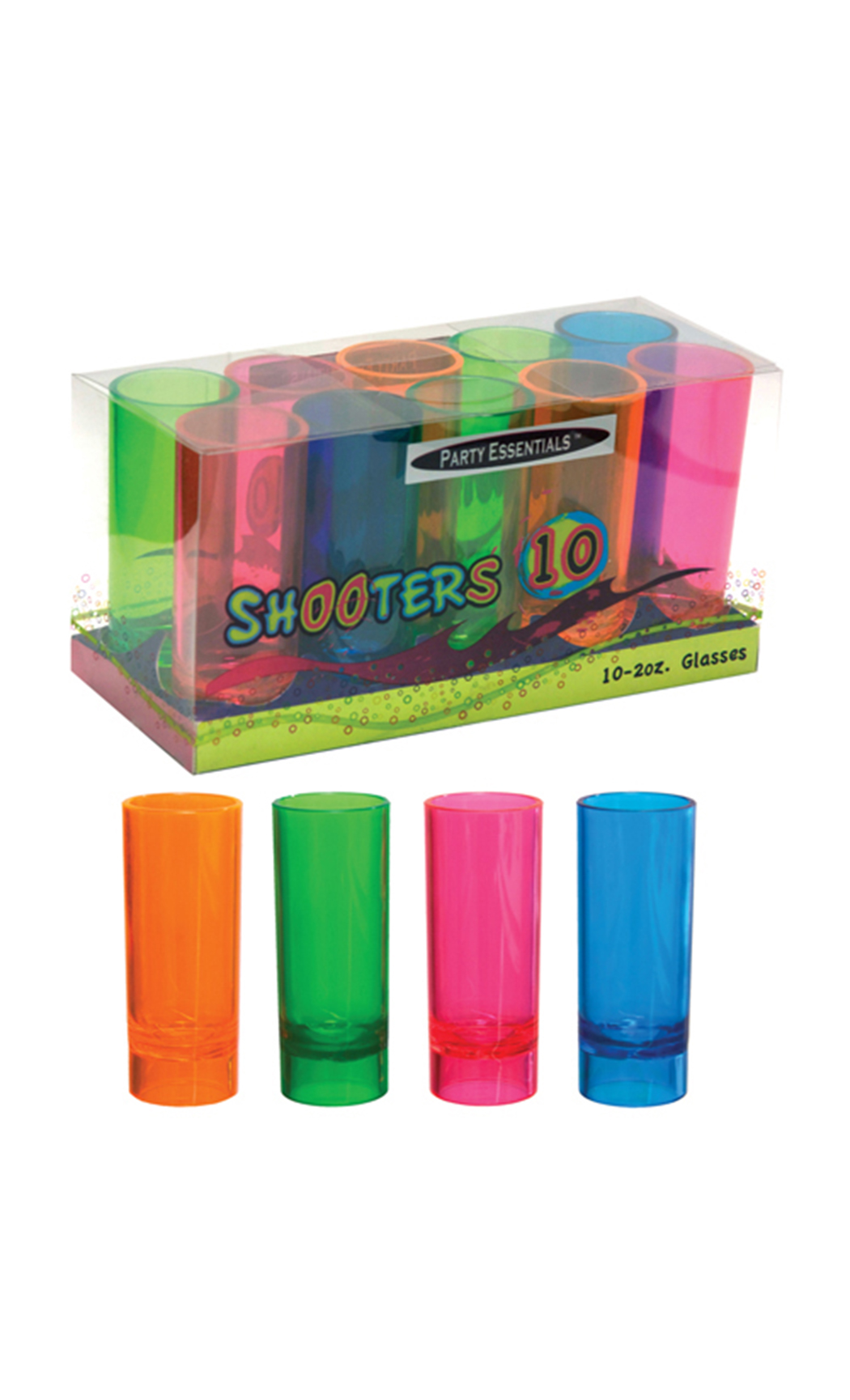 2 Oz Neon Shooter Glasses