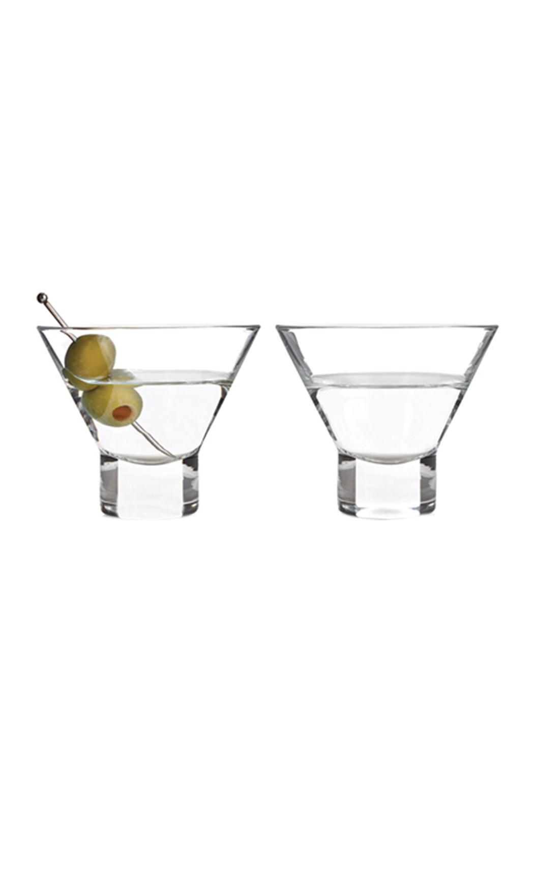 Raye Stemless Martini Glass