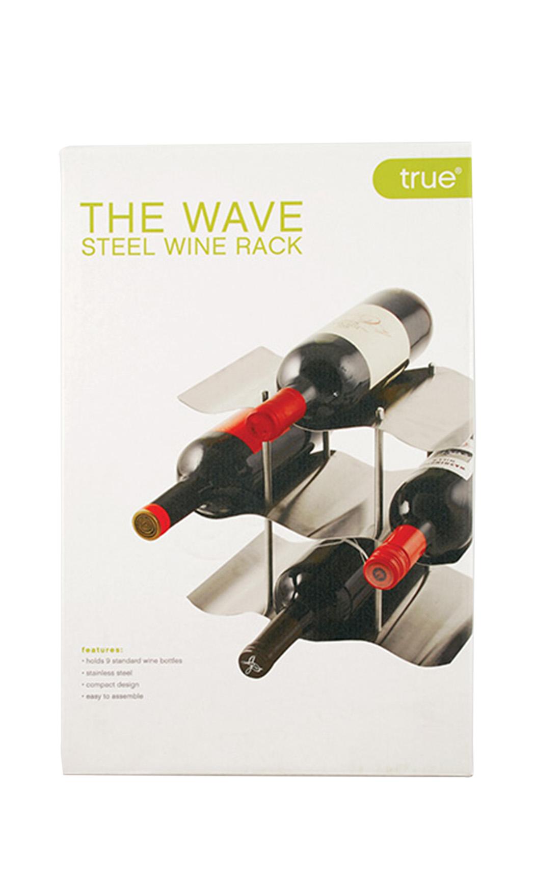 The Wave 9-Bottle Wine Rack