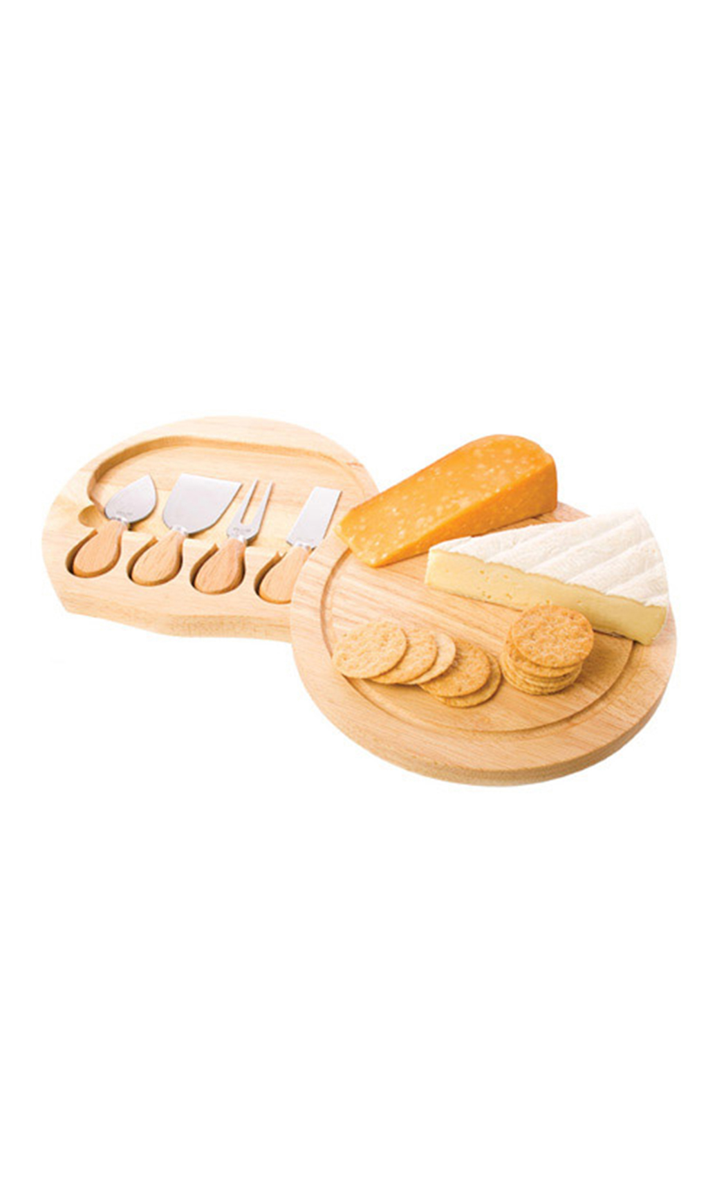 Rubber Wood Cheeseboard Set