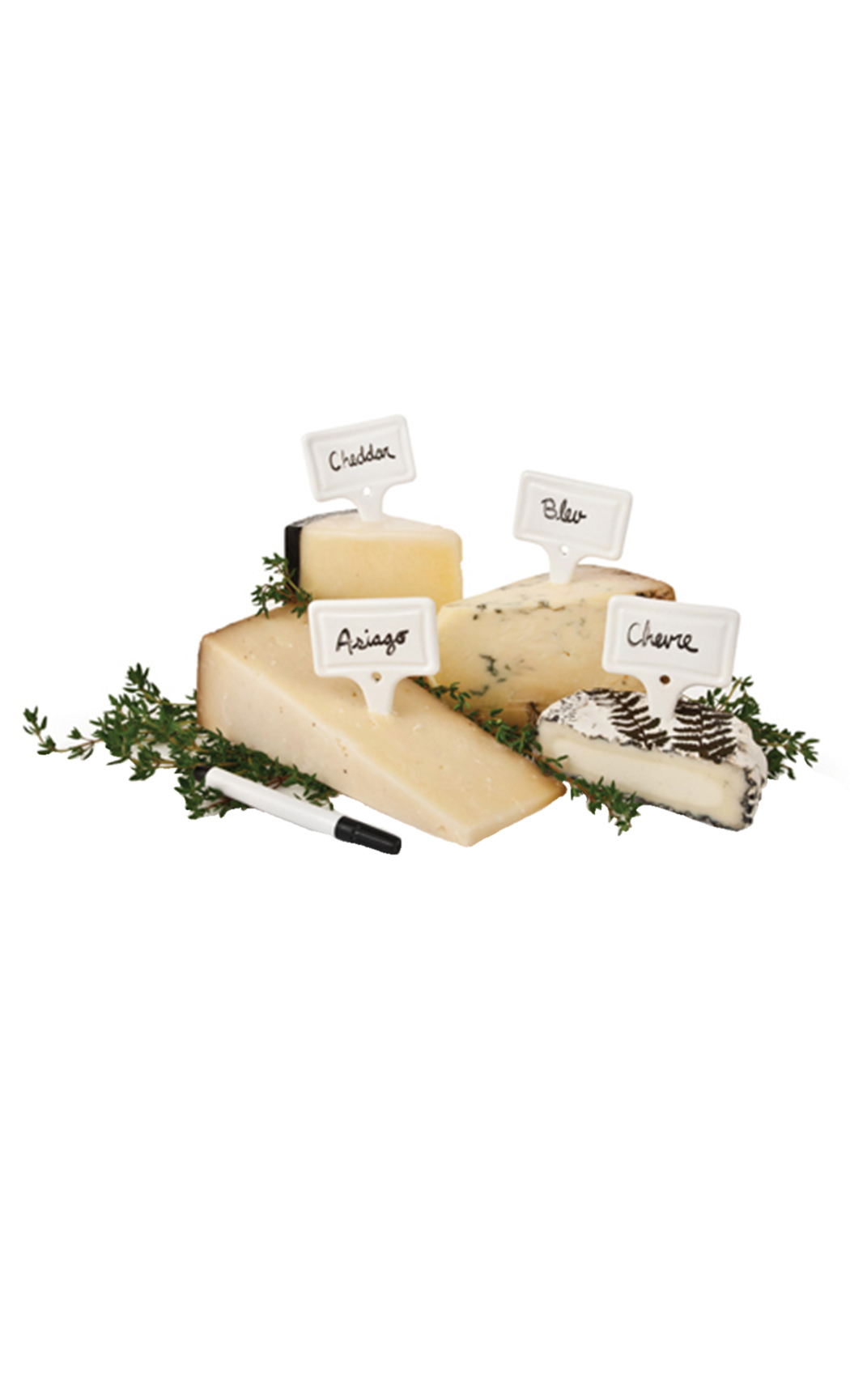 Ceramic Cheese Markers (set of 4)