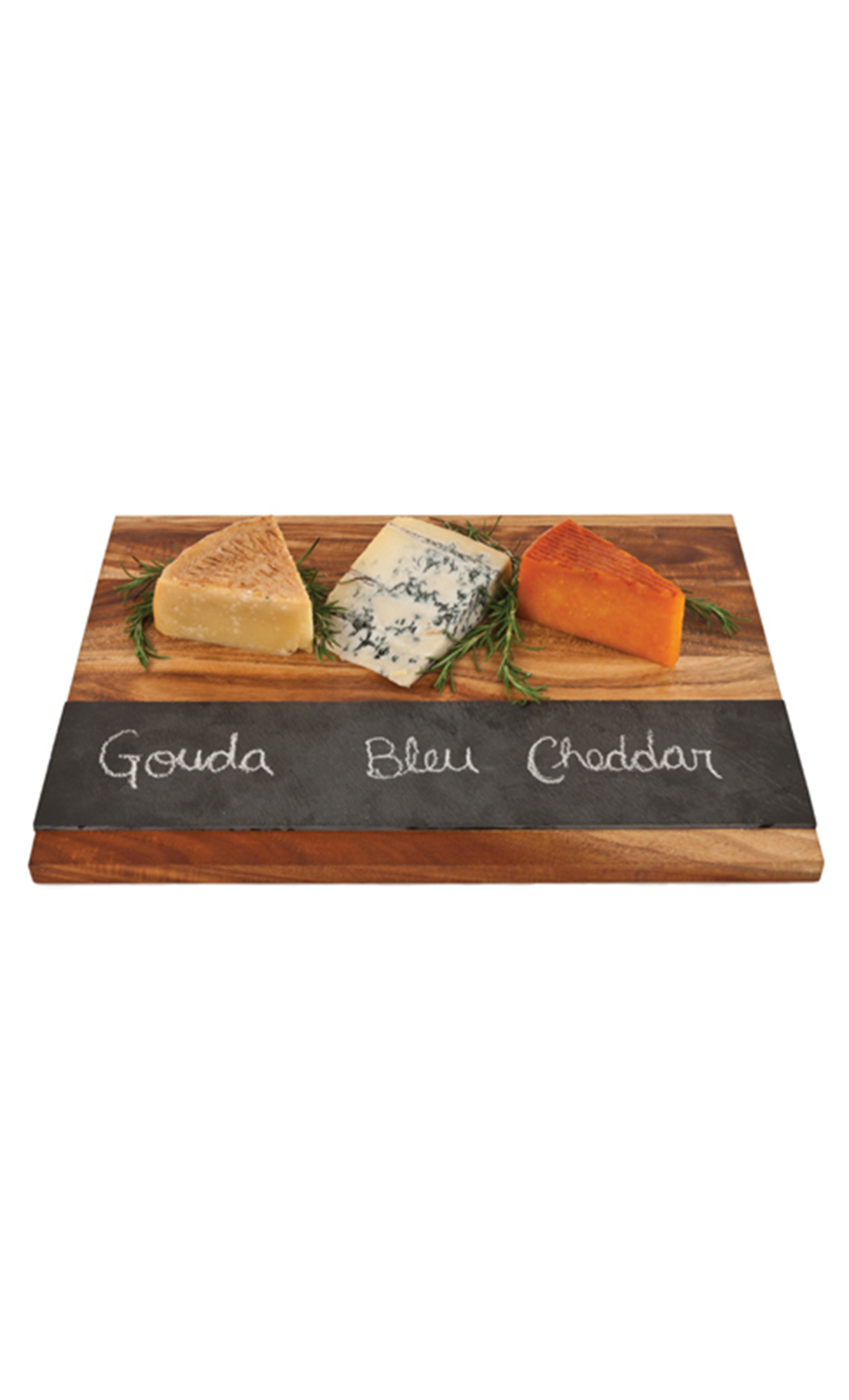 Wooden Cheeseboard With Slate Strip