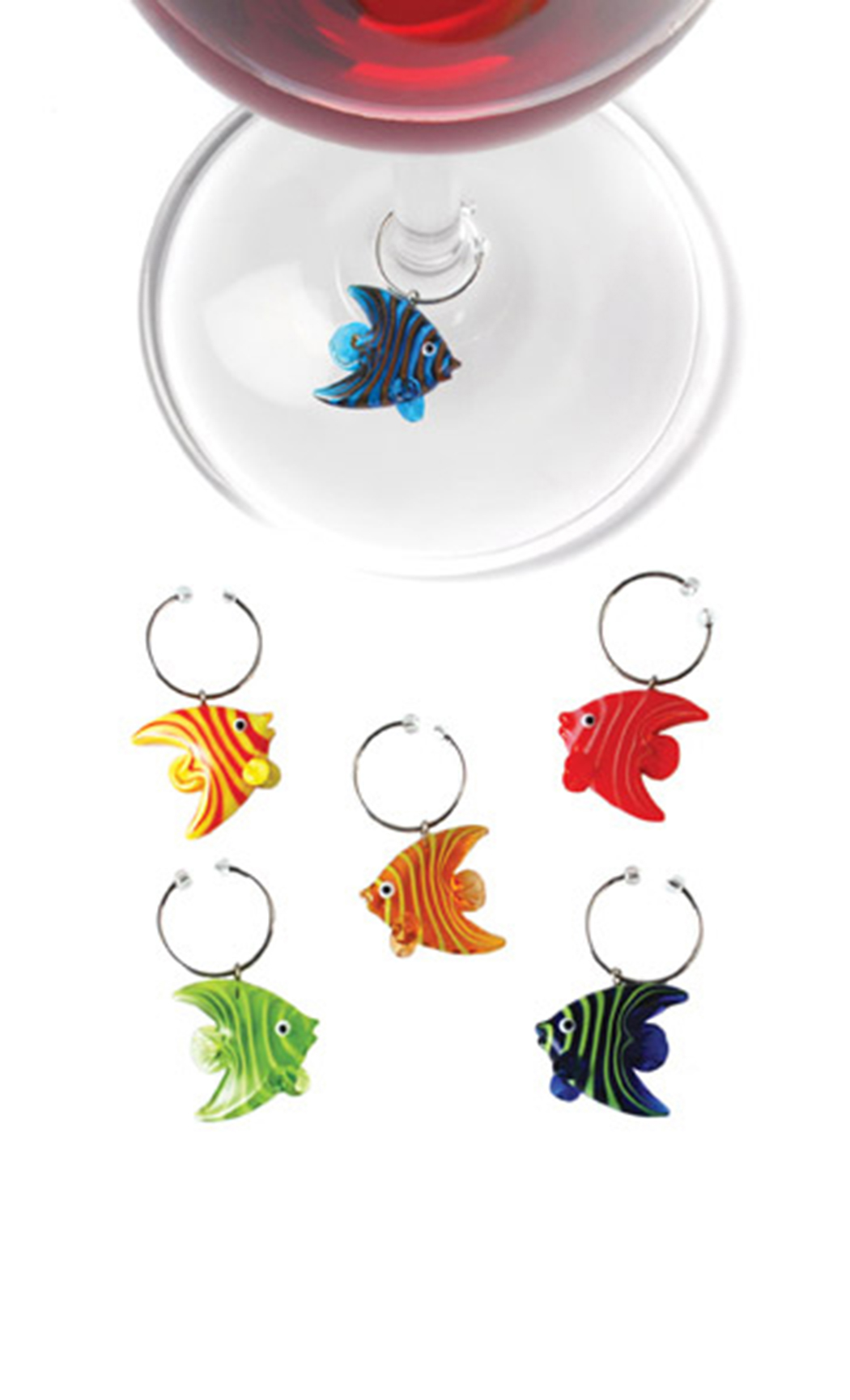 Glass Angelfish (Stem Charms)