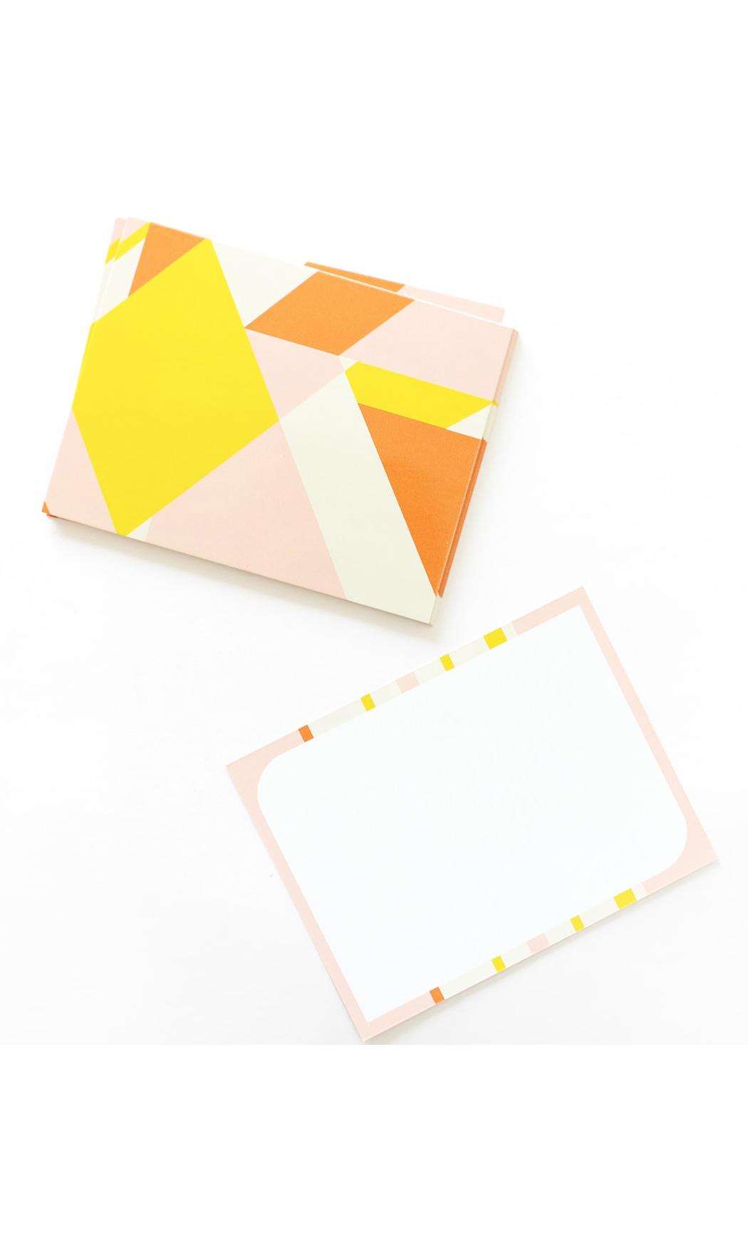 Geometric Soft Notecards