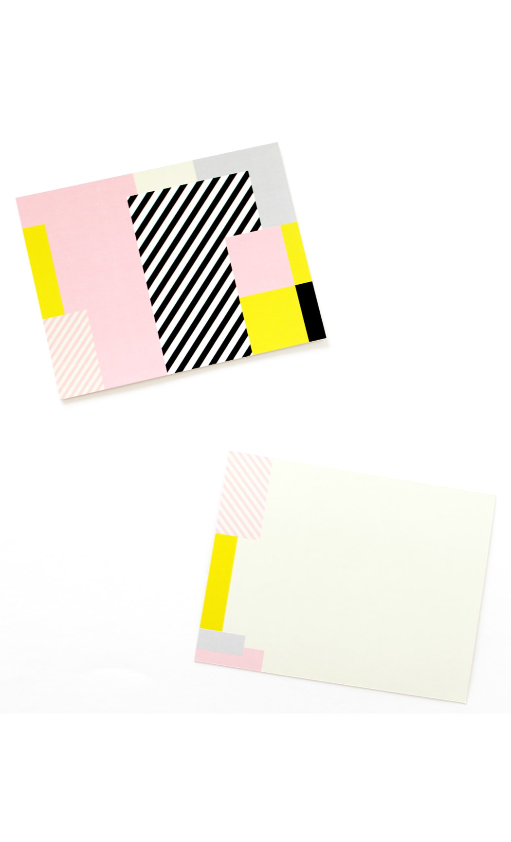 Pink Graphic Notecards