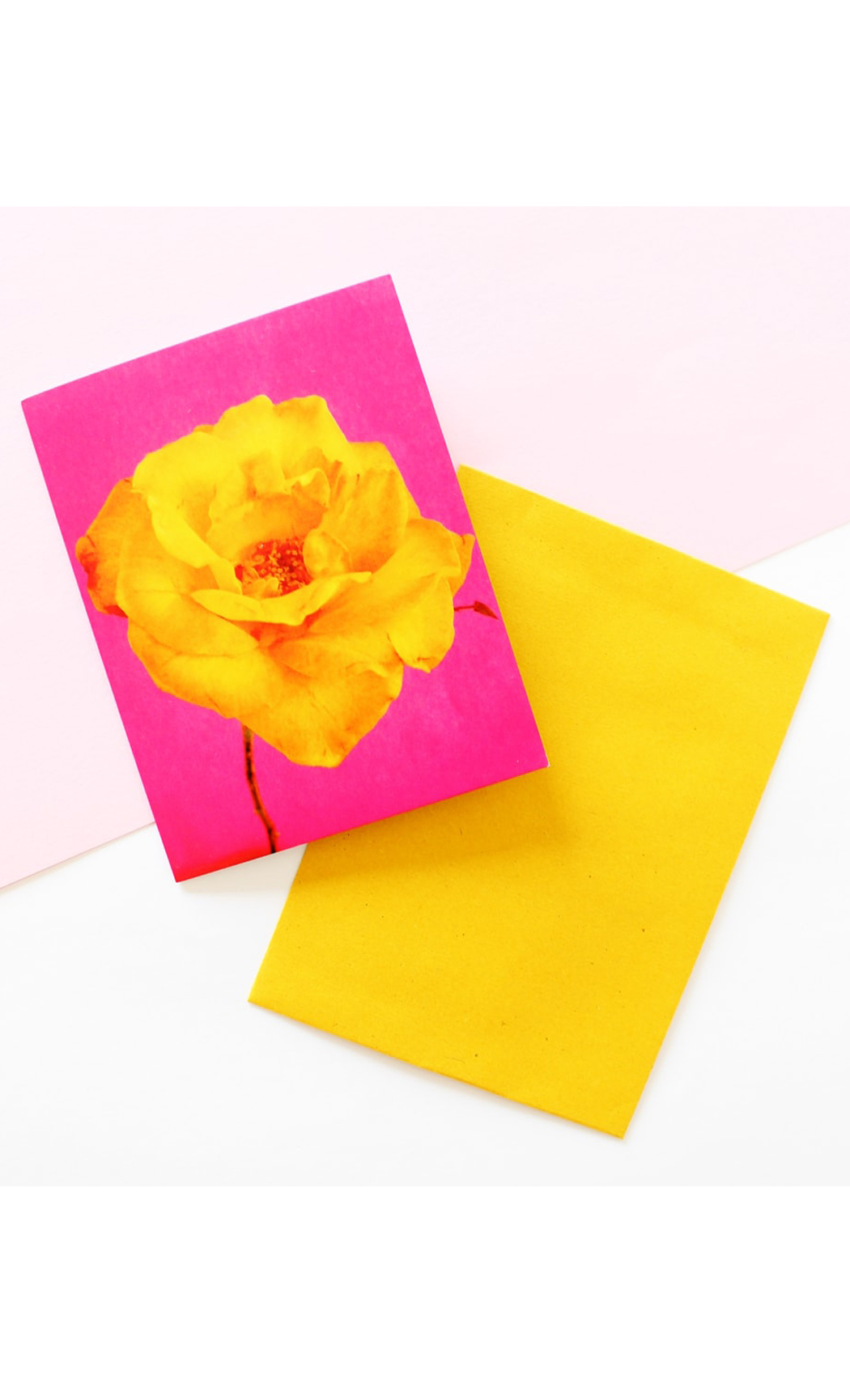 Mustard Modern Floral greeting Card