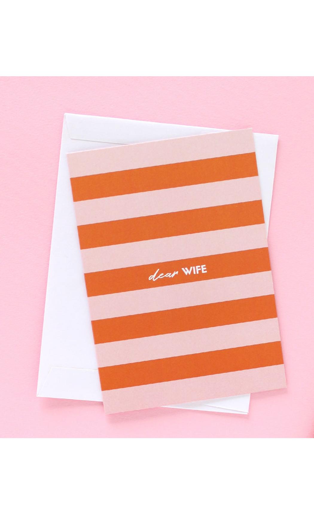 Dear Wife Greeting Card
