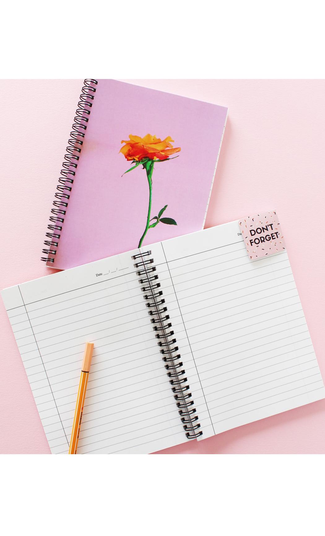 Lavender Modern Floral Notebook