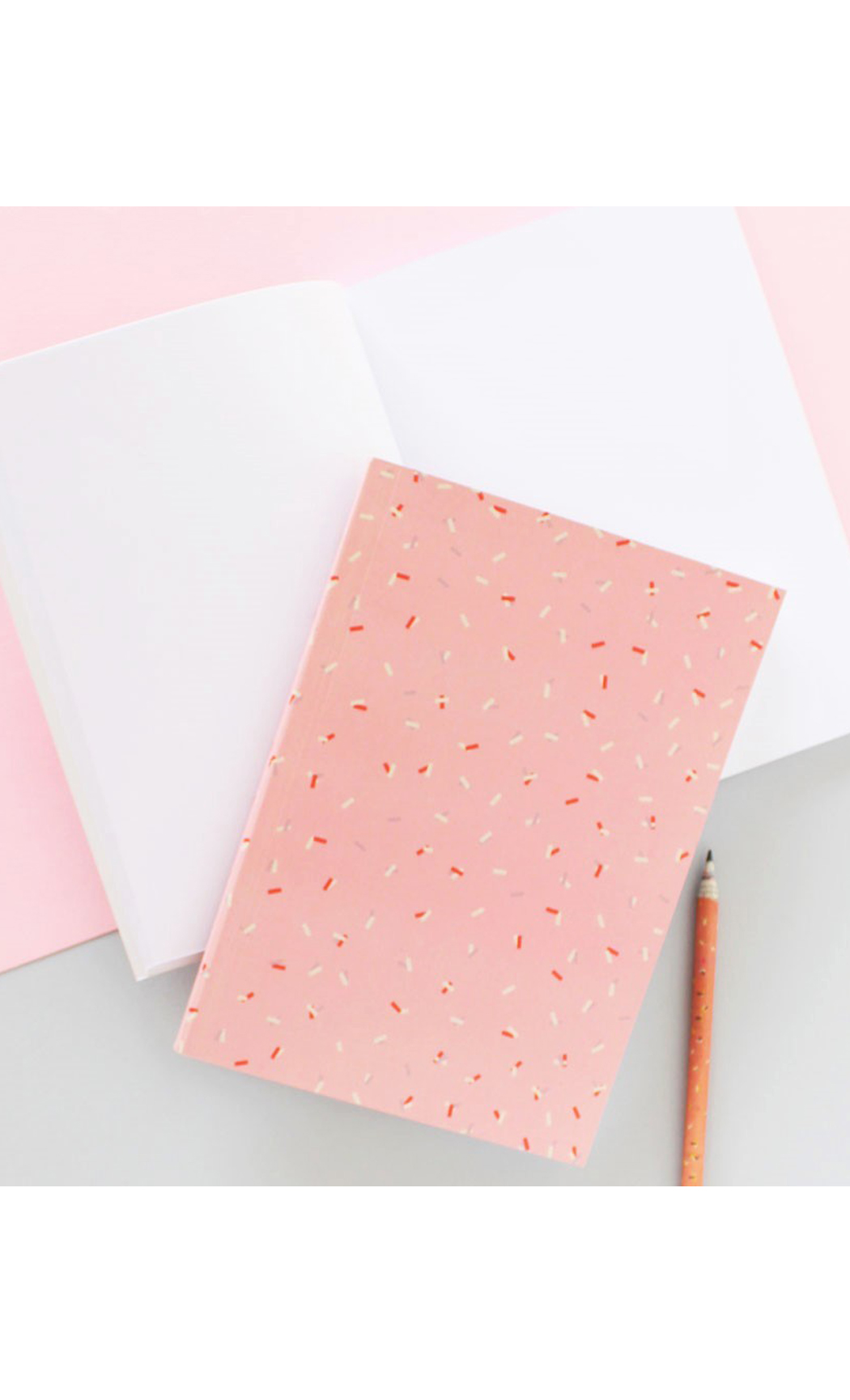 Pink Confetti Notebook