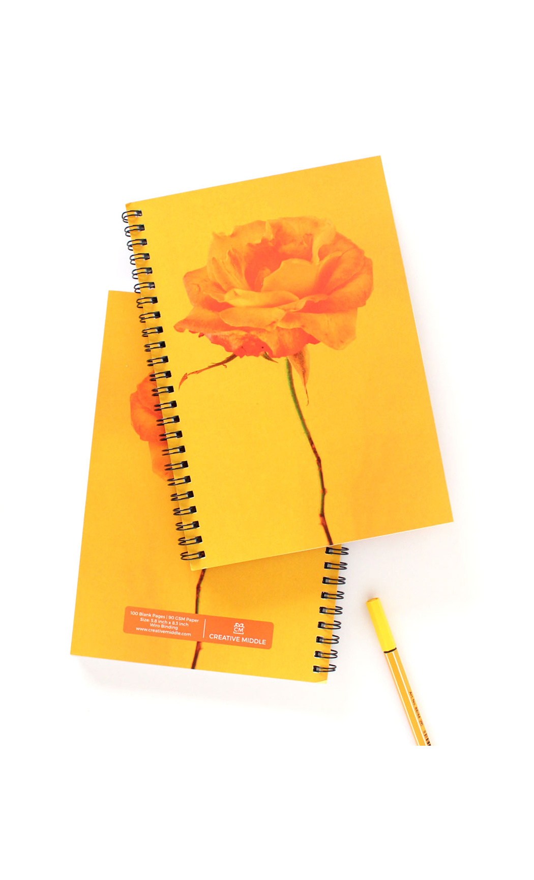 Mustard Fleur Notebook