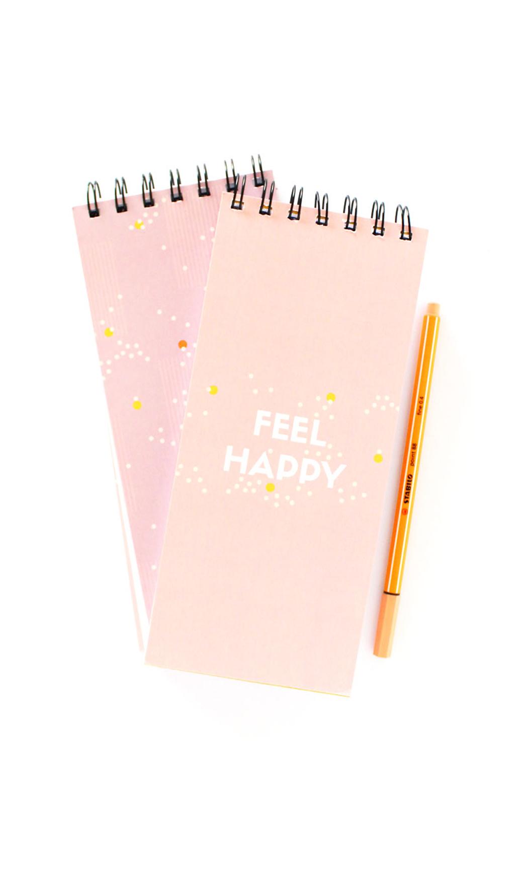 Feel Happy Checklist Notepad