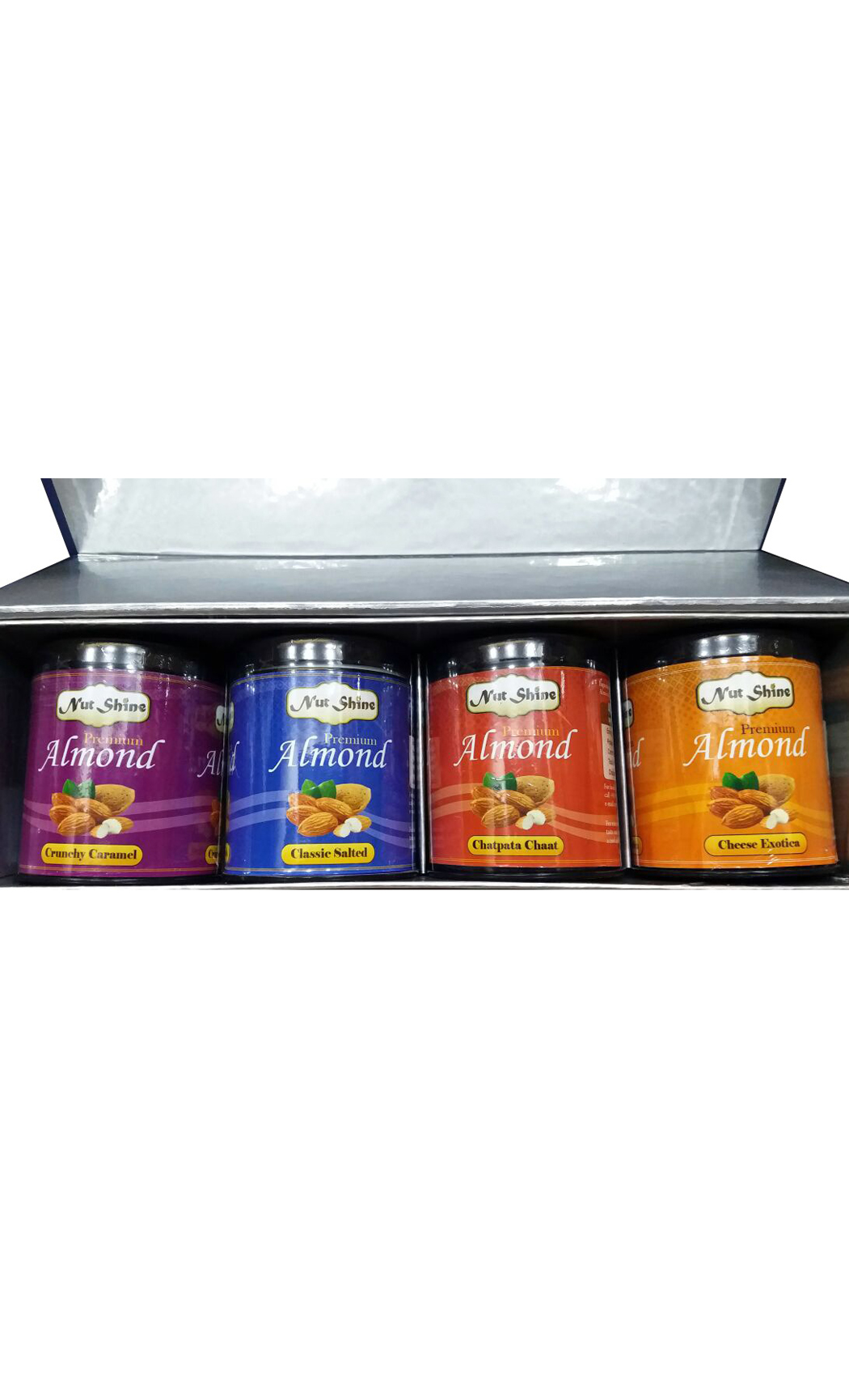 Flavoured Almond Gift Box Set of 4- 90gm Boxes - Buy Online