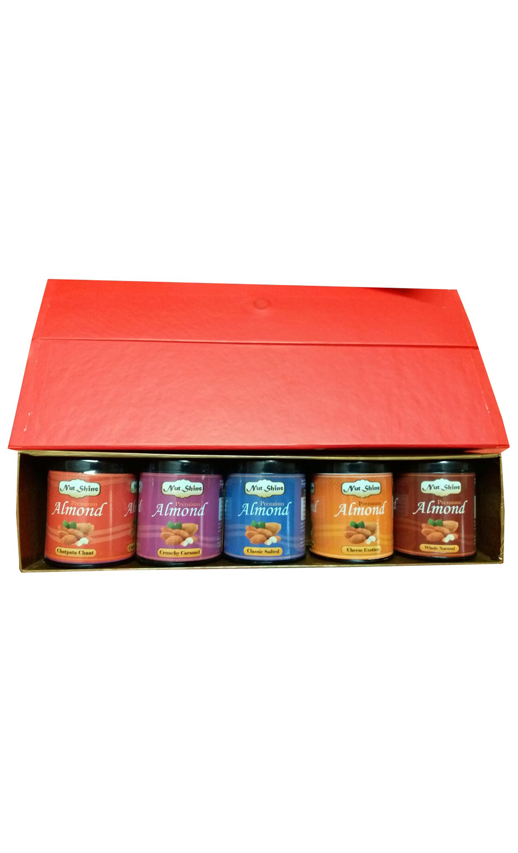 Flavoured Almond Gift Box Set of 5- 90gm Boxes - Buy Online