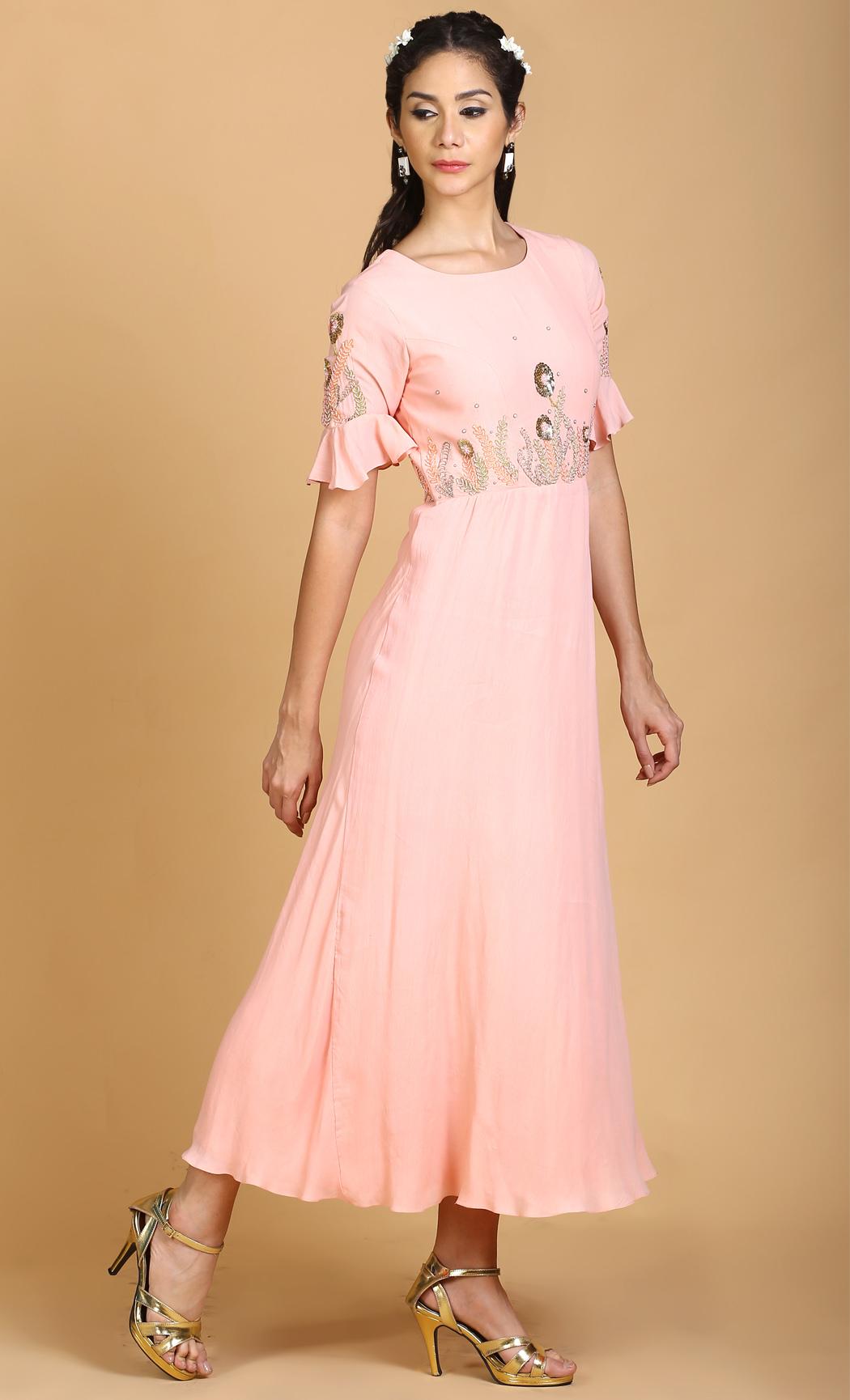 Peach Pink Tunic Dress