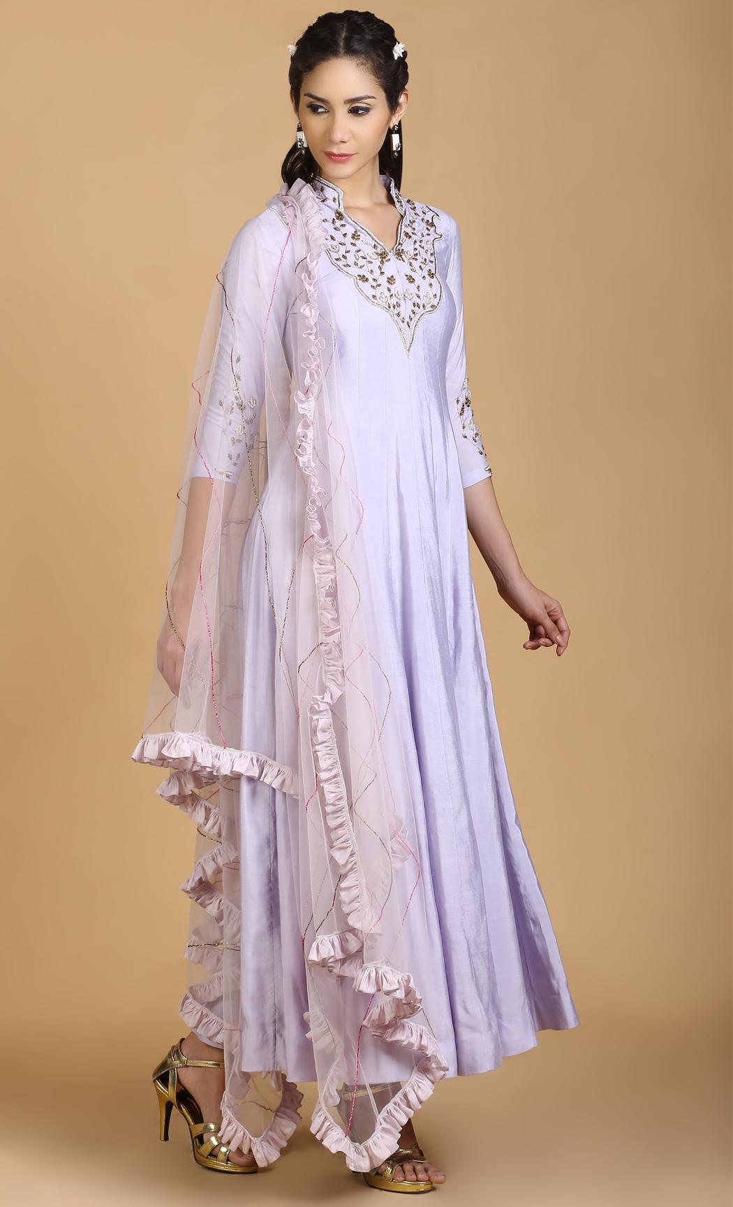 Violet Salwar Kameez Kurta