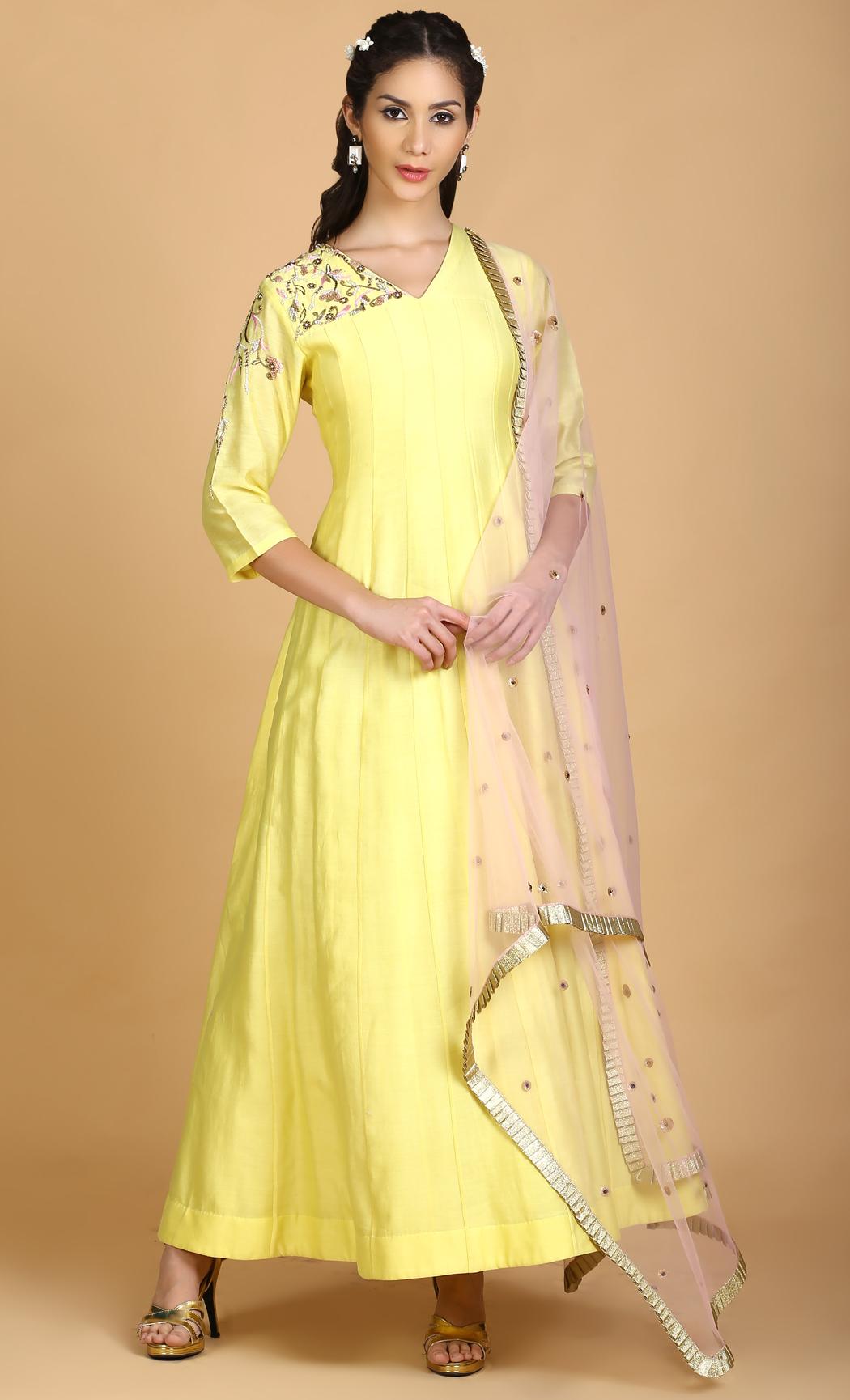 Marigold Yellow Salwar Kameez Kurta