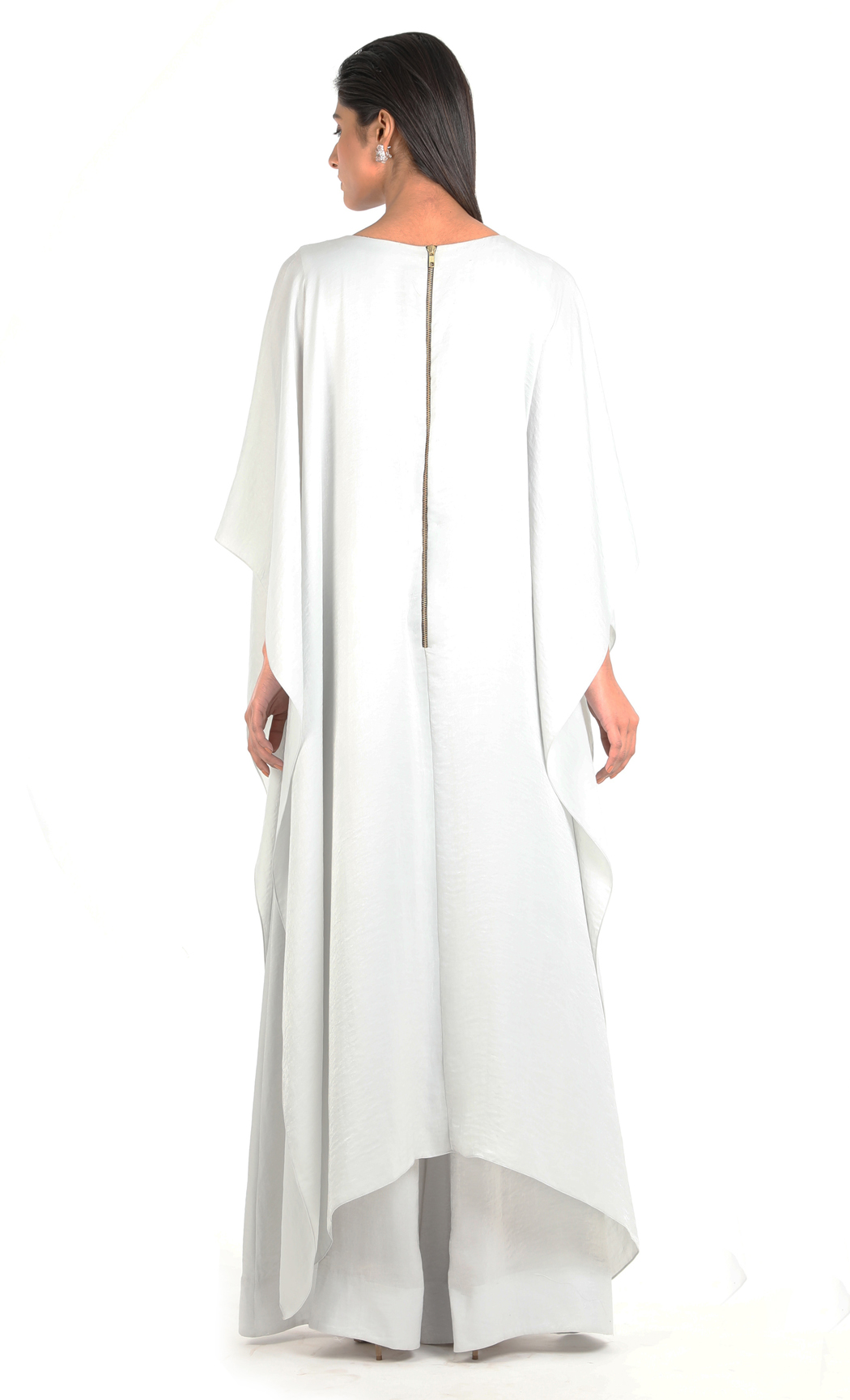Light Grey Draped Jumpsuit