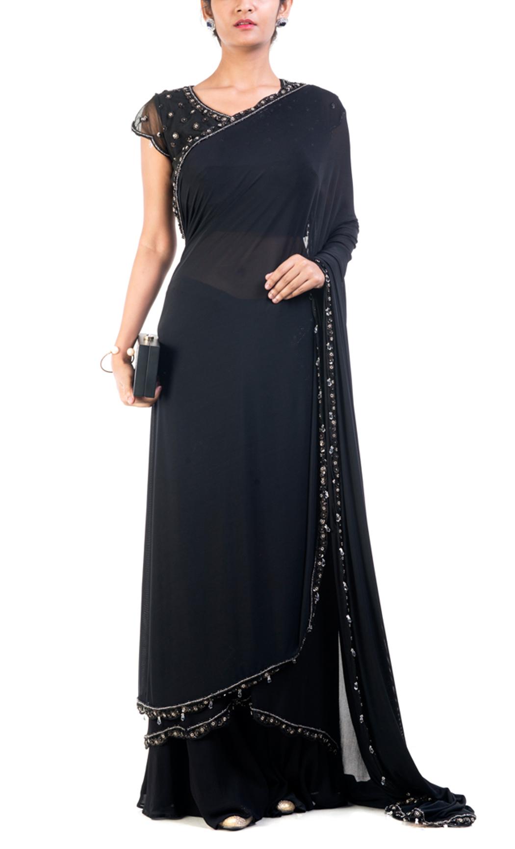 Classic Black Drape Saree