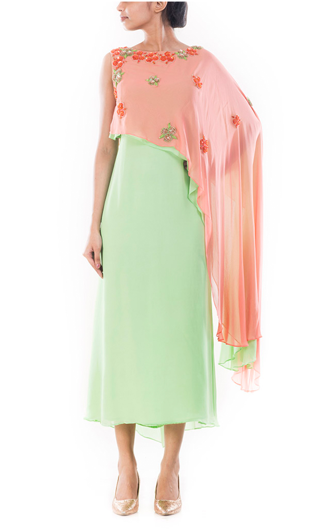 Spring Green Pearl Dress