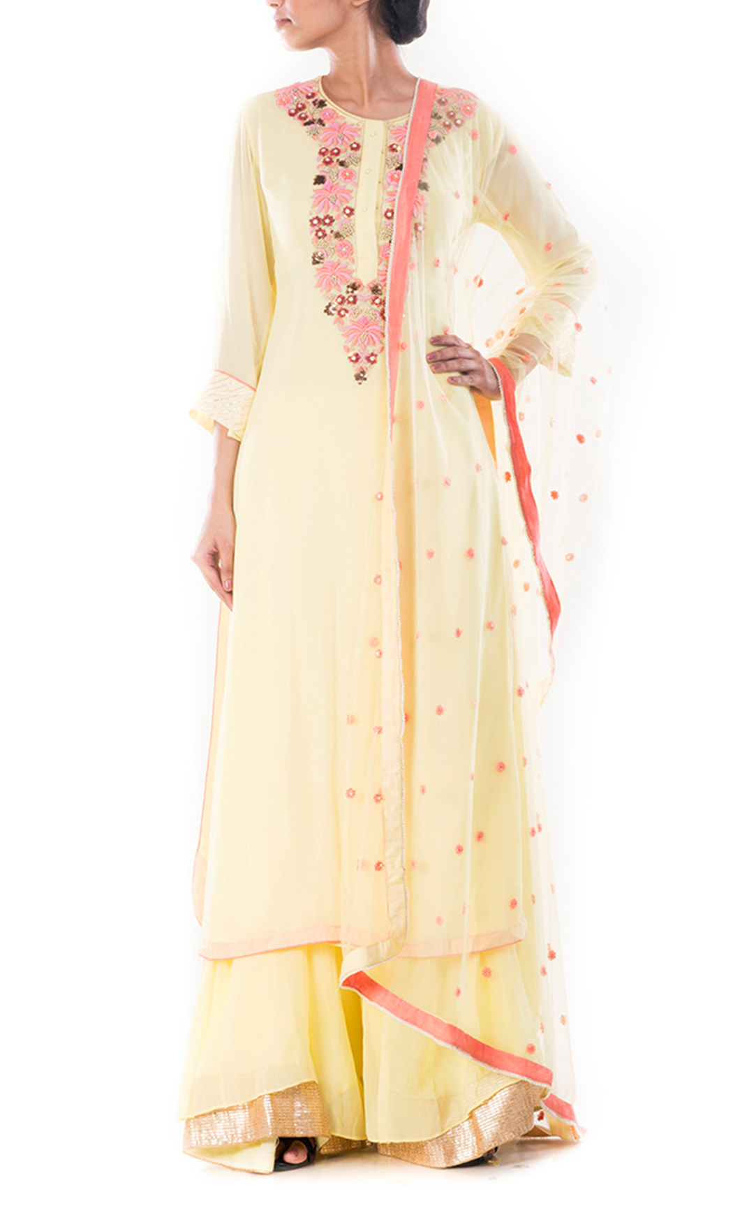 Moccassin Yellow Suit and Sharara