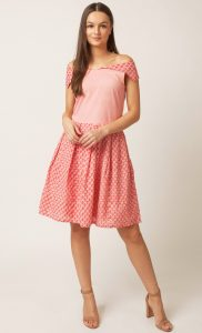 Pink Off-Shoulder Dress. Buy Online