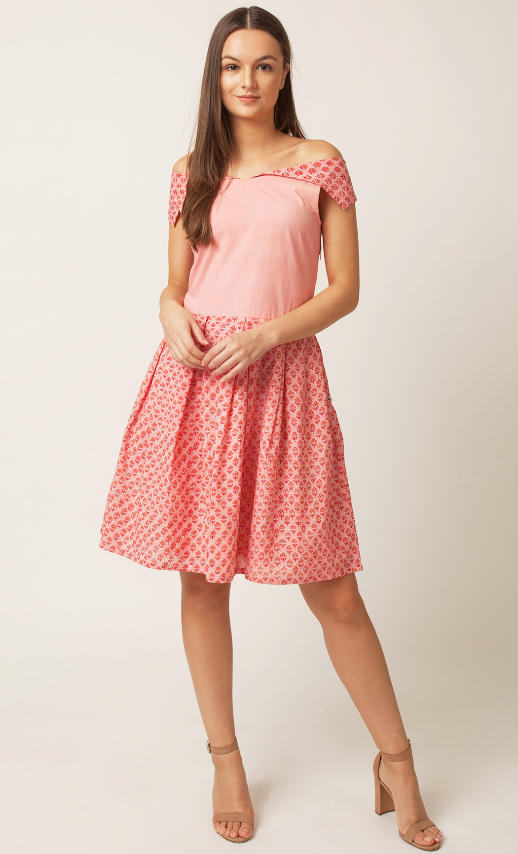 Pink Off-Shoulder Dress. Buy Online