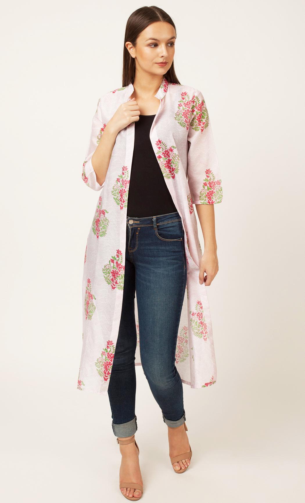 Pink Printed Jacket. Buy Online