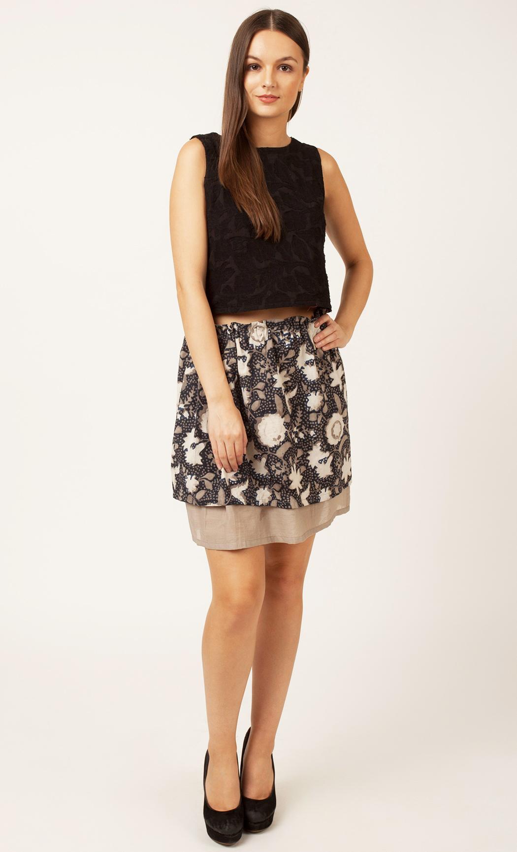Grey Printed Skirt. Buy Online