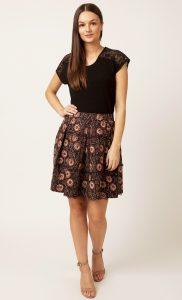 Brown Box Pleat Skirt. Buy Online