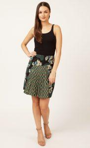 Green Floral Printed Skirt. Buy Online