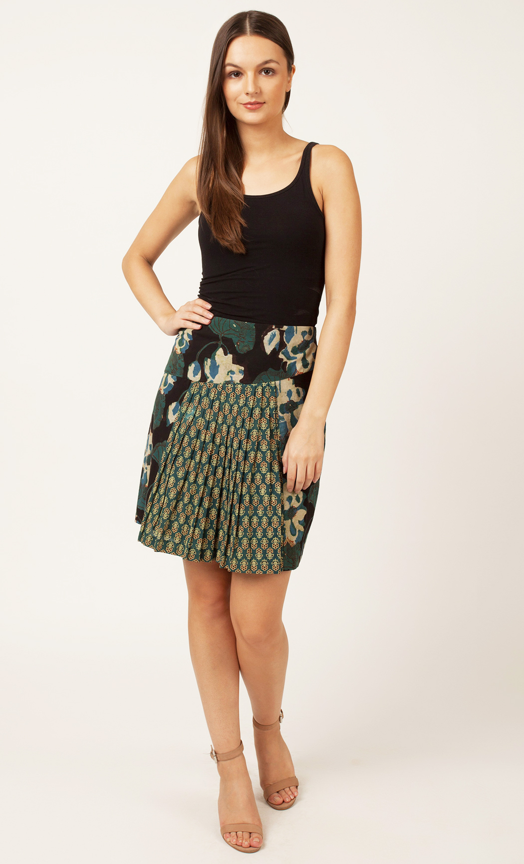 Green Floral Printed Skirt. Buy Online