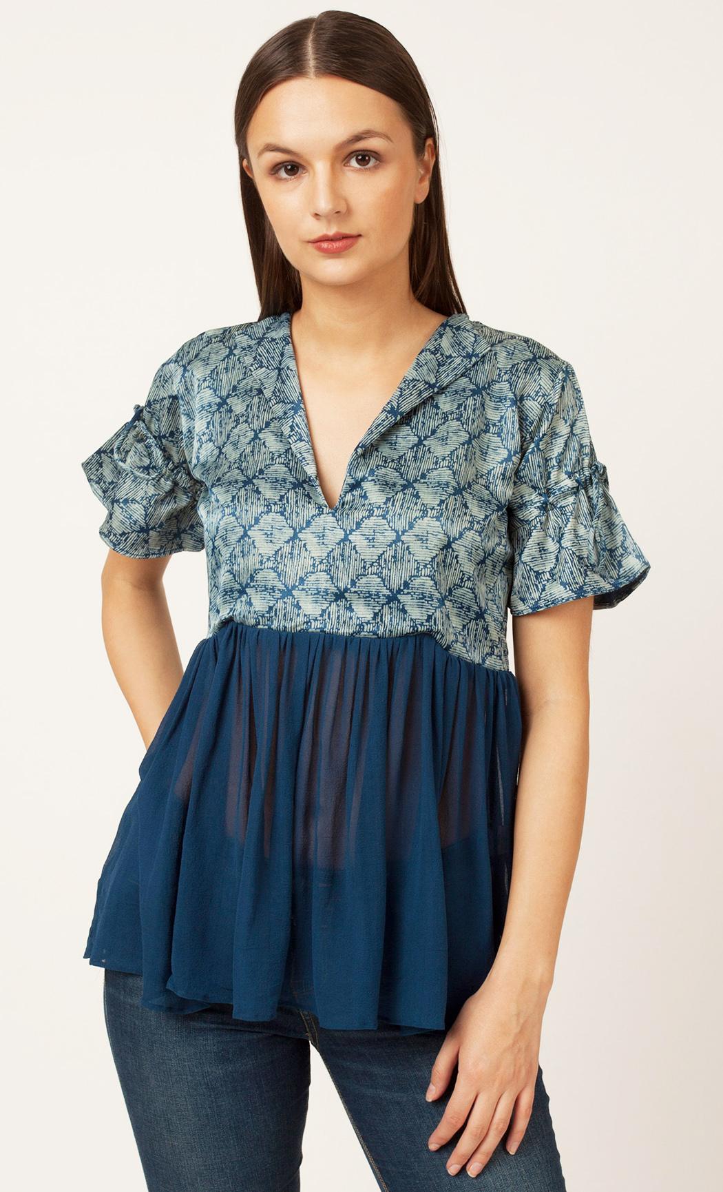 Blue Printed Top. Buy Online