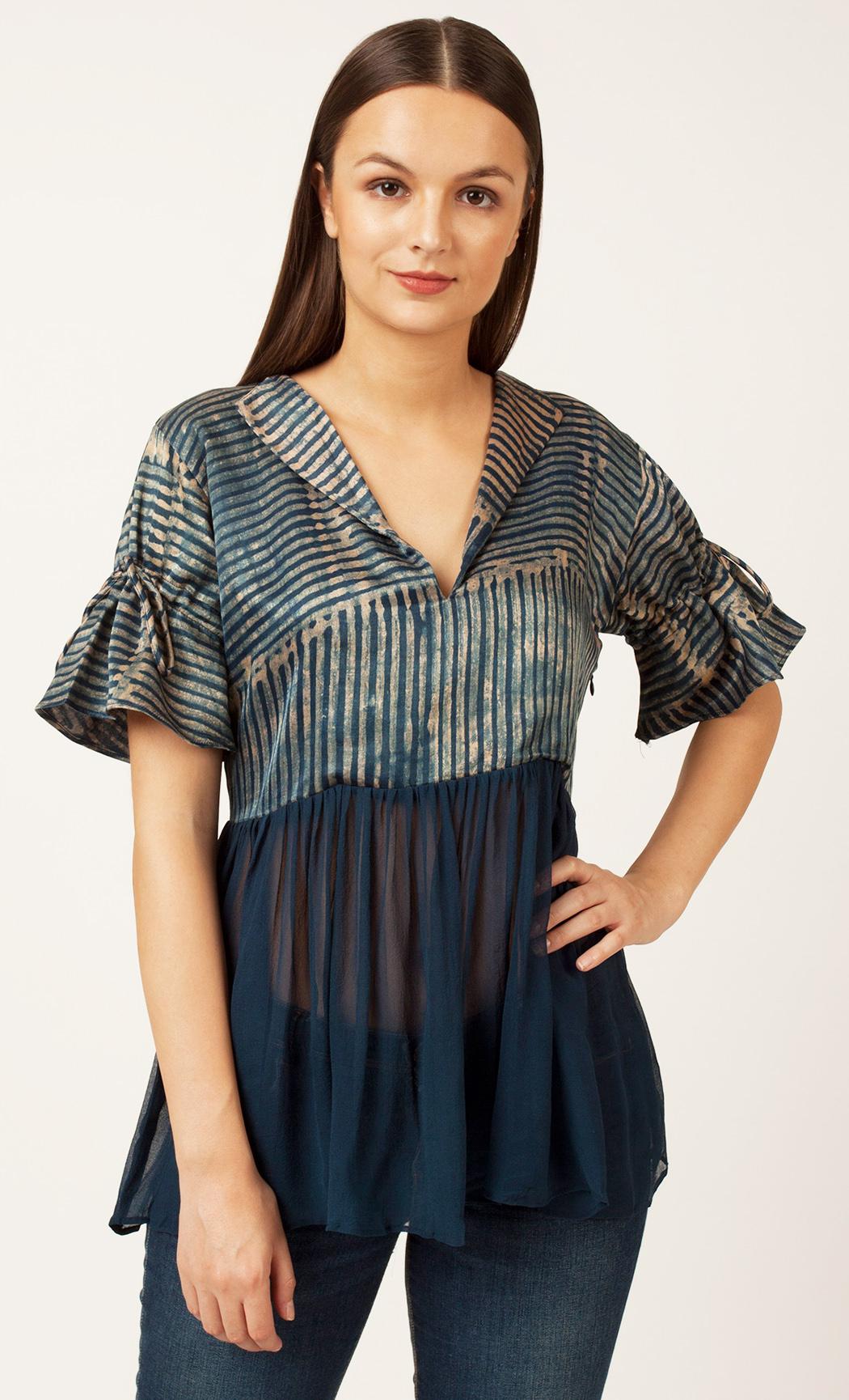 Blue Stripe Printed Top. Buy Online