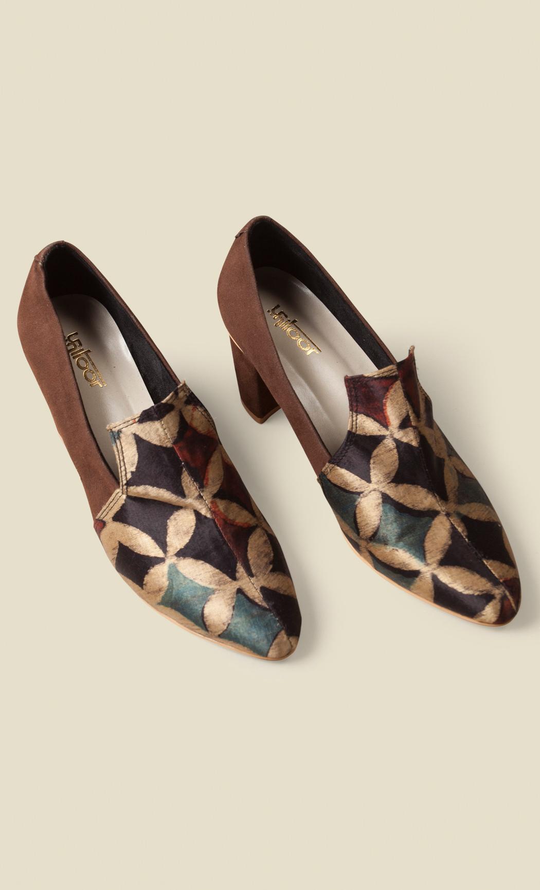 Brown and Gold Heel Sandals. Buy Online.