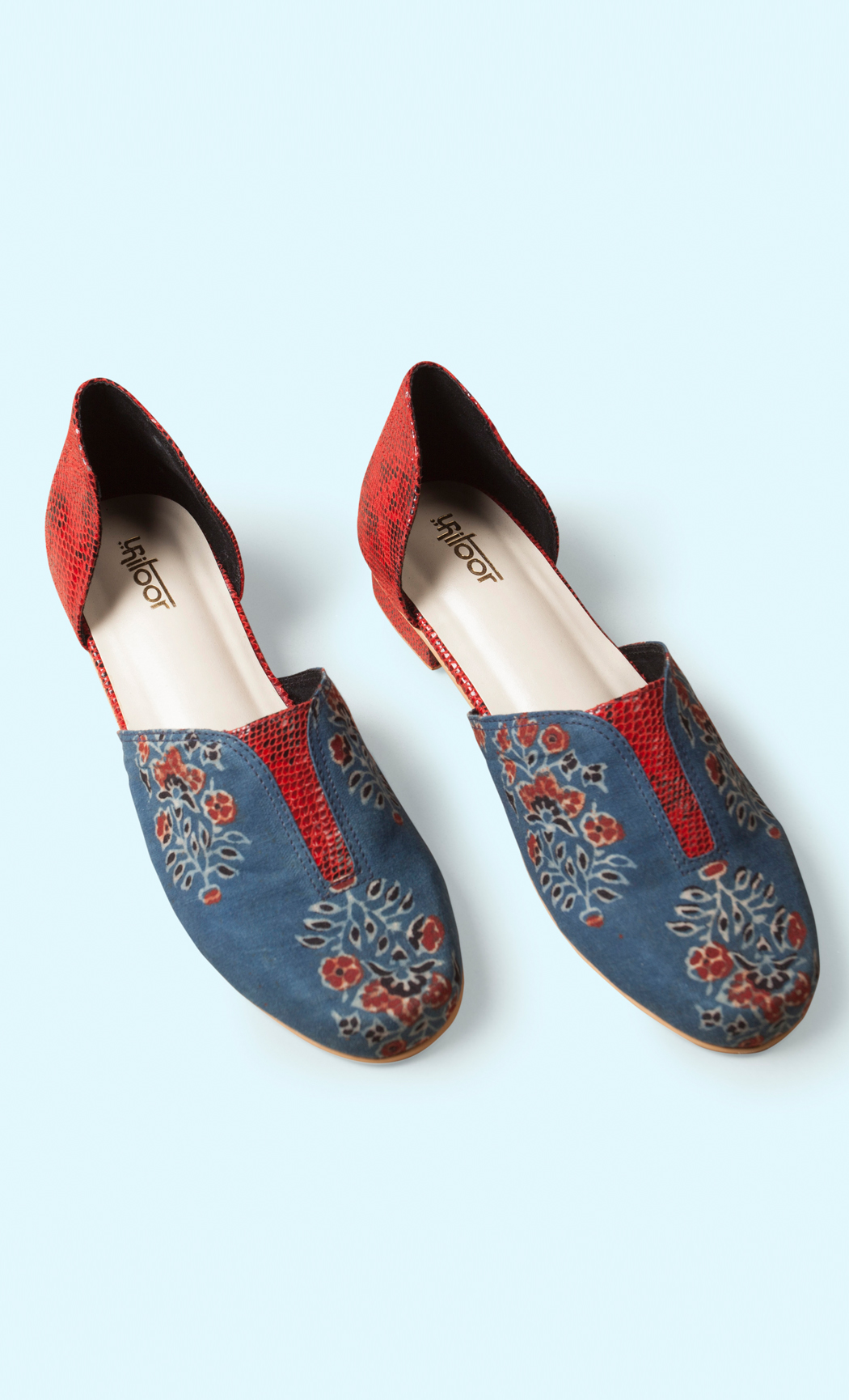 Blue and Red Printed Loafers. Buy Online.