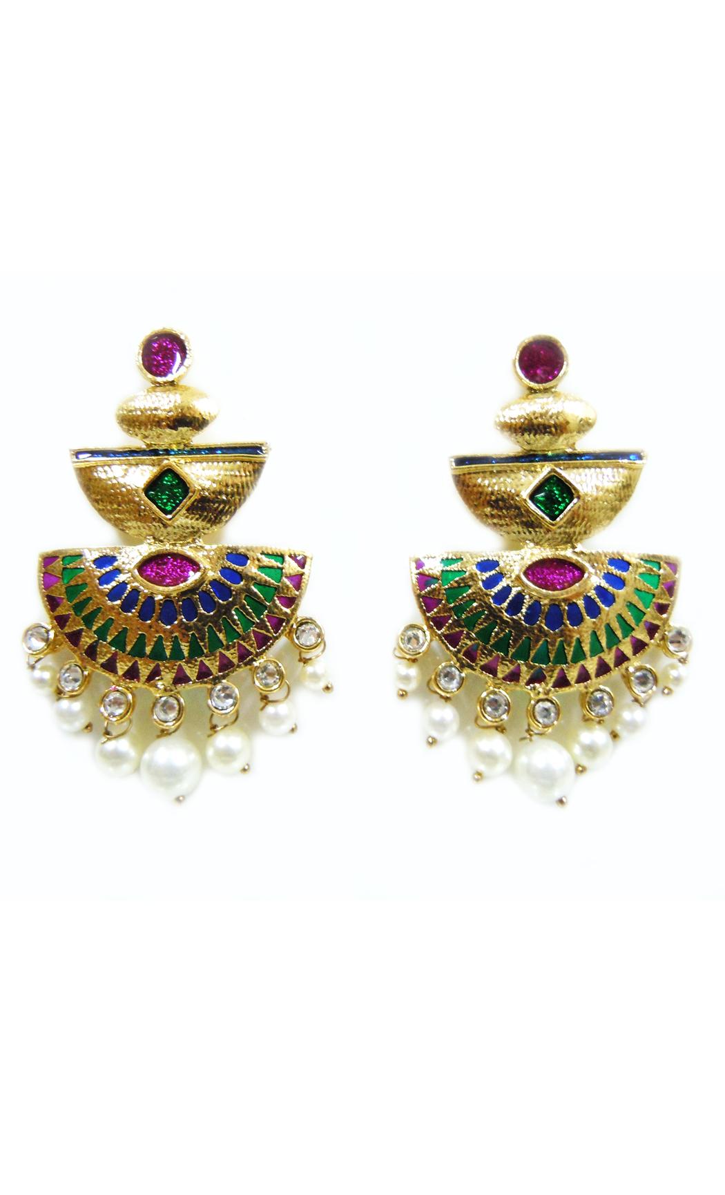 Magenta Triad Earrings - Shop Online