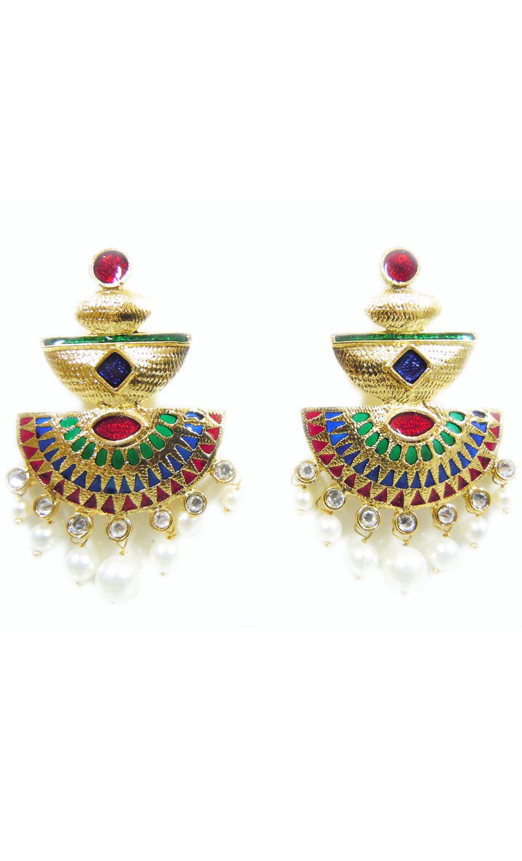 Scarlet Triad Earrings - Shop Online