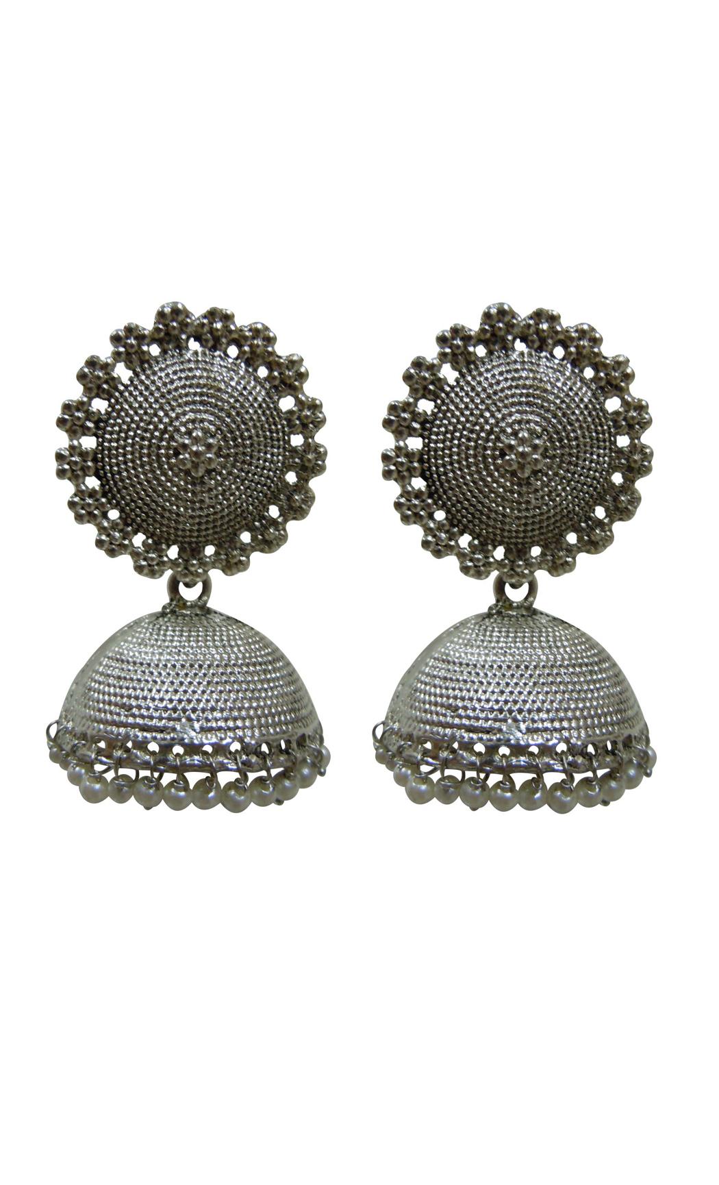 Silver Maya Jhumkas - Shop Online