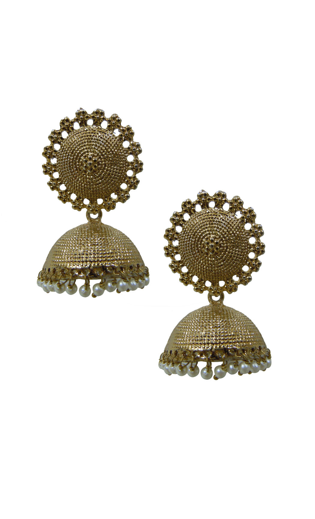 Gold Maya Jhumkas - Shop Online