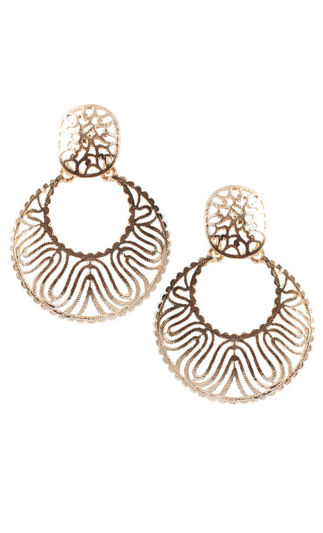 Gold Wave Earrings - Shop Online